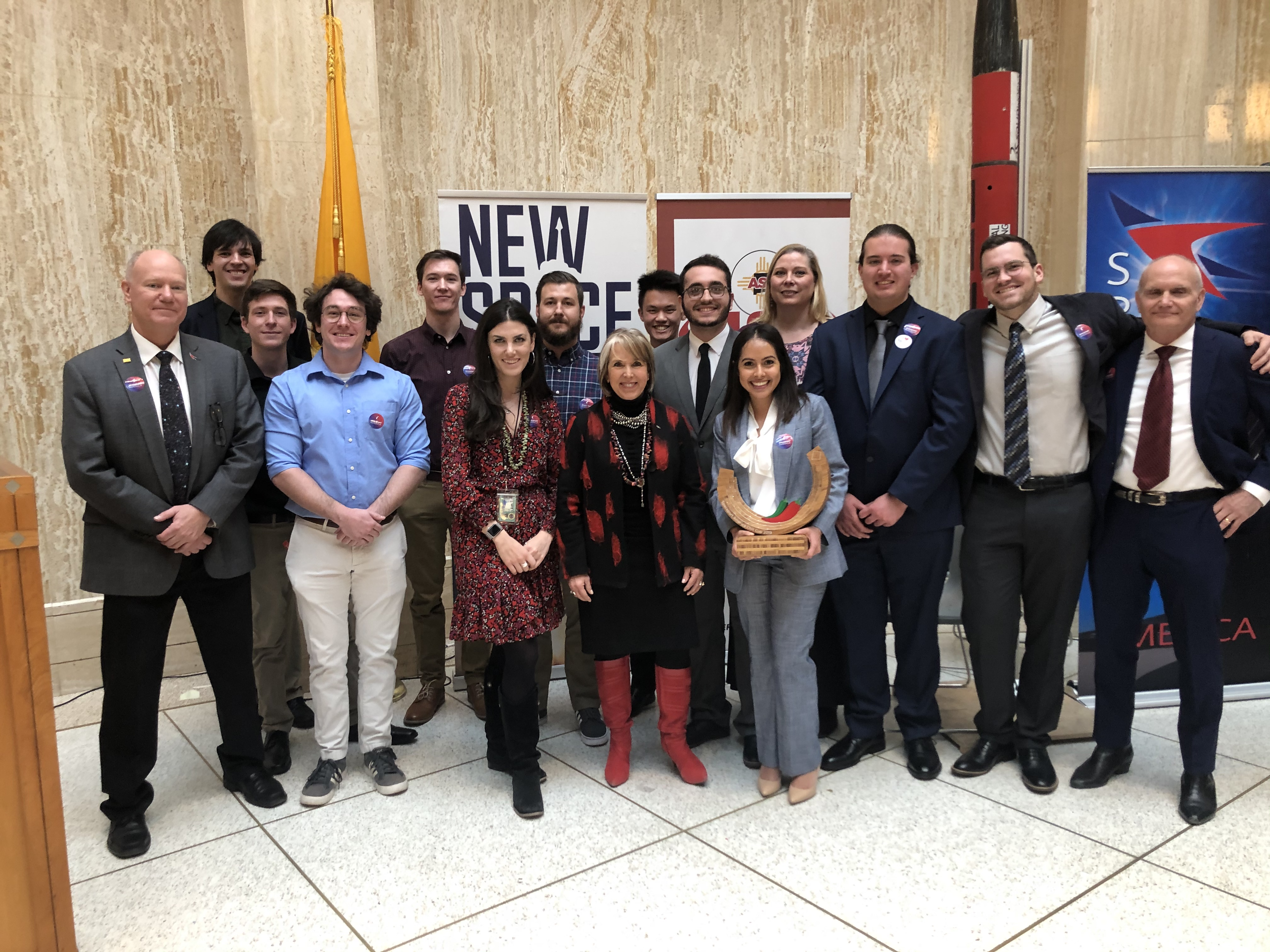 Lobo Launch team with Governor Lujan-Grisham